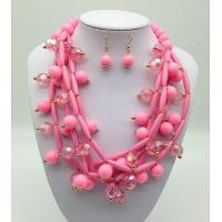 Wholesale Fashion Exporting designs Acrylic Bead African Beads Jewelry Set Multi layer Necklace And Earring Set from china suppliers