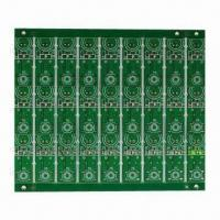 Buy cheap Double-sided PCB with green mask and white silk from wholesalers