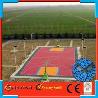 Wholesale Shock Absorbing Outdoor Basketball Flooring Tile Red Color from china suppliers