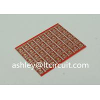 Wholesale Gold Plated Red Double Sided PCB Semi Holes Side Rails White Lenged from china suppliers