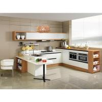 Wholesale Modern White Stainless Steel Kitchen Cupboards Laminate Covering With Aluminium Handle from china suppliers