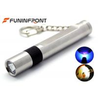 Wholesale MINI Stainless Steel Jade Flashlight White Light, 365NM Black Light Gem Torch from china suppliers