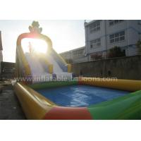 Buy cheap Nontoxic Double Lanes Inflatable Frog Water Slide With 5X5M Big Water Pool from wholesalers