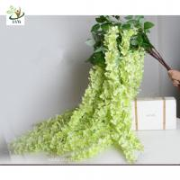 Wholesale UVG Green decorative artificial flower with silk wisteria for wedding stage decoration from china suppliers