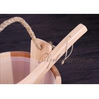 Smoothy Carved  Sauna  Pail Bucket and Spoon Set with Liner For Dry Sauna Room Accessories