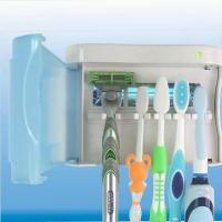 Wholesale UV Toothbrush Sterilizer & Shaver Holder UV Toothbrush sanitizer Family Set from china suppliers