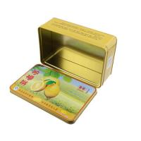Quality Lemon Cake Tin Box ,CYMK Printed Metal Container Food Graded 0.23mm for sale