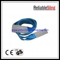 Wholesale SF 7 8T Blue color polyester duplex webbing sling 1-100 meters length from china suppliers