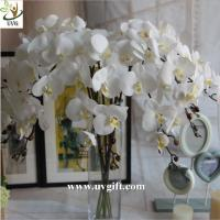Wholesale UVG White real touch PU orchid artificial flower wholesaler for latest wedding decoration from china suppliers