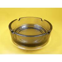 Wholesale Customized Smoking High white pressed Clear Glass Ashtray / Engraving, printing glassware from china suppliers
