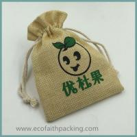 Wholesale imitation linen gift bag linen drawstring bag from china suppliers