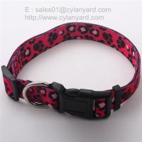 Buy cheap Adjustable dog collar to prevent from too tight, sublimation ribbon pet collars, from wholesalers