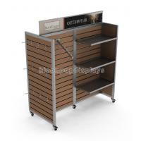 Wholesale Clothing Store Furniture 4 Way Garment Hanging Wood Freestanding Slatwall Displays from china suppliers