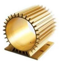 Wholesale Golden Anodizing Hollow Extrusion Heat Sink Round Flat Square from china suppliers
