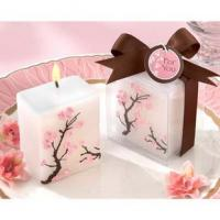 Wholesale Cherry Blossom Elegance Mini-Pillar Wedding Candle Favors from china suppliers