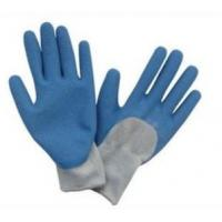Wholesale Customized Blue Latex Coated Protection Hand Gloves With Uncoated Back from china suppliers
