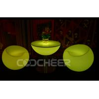 Wholesale Fashionable Small Decoration lighted coffee table Chairs water proof from china suppliers