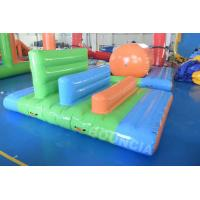 Quality 40mX 10m Pool Inflatable Floating Obstacle Course For Children Games for sale