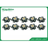 Wholesale Round 3 Watt High Power Led Chip For Hydroponic / Greenhouse Grow Light from china suppliers