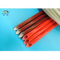 Quality Fibre Glass Products Silicone Rubber Fiberglass Sleeving for Cable Line Protecting for sale