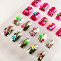 Wholesale Colorful Full Plated Metallic Fake Nails Star Diamond For Kids Finger from china suppliers