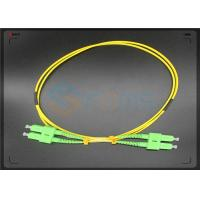 Wholesale APC Corning  Fiber Optic Cable , Single Mode Fiber Jumpers 9 / 125 2.0MM from china suppliers