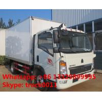 China Factory direct sale HOWO 160hp refrigerated freezing goods truck, best price SINO TRUK HOWO Light duty cold room truck on sale
