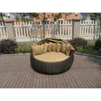 Wholesale Outdoor Rattan Daybed , Hand-Woven All Weather Round Sun Bed from china suppliers