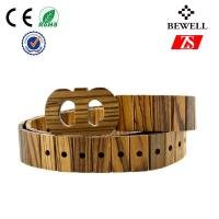 Wholesale Cool Handmade Wood Accessories , 4CM Width Wood Belts For Man from china suppliers