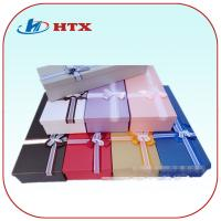 Wholesale Pretty Cardboard Packing Box with Double-Color Ribbon for Gifts/Tie from china suppliers