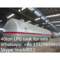 Wholesale 40 metric tons bulk LPG tank for sale, high quality and competitive price LPG gas storage tank for sale from china suppliers