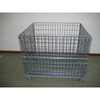 Wholesale Heavy Duty Galvanized Metal Storage Cage / Wire Mesh Container For Wearhouse Storage from china suppliers