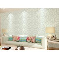 Wholesale Non - woven Living Room Wallpaper , Economical modern home wallpaper Floral from china suppliers