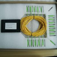 Wholesale Ftth Plastic ABS Black Box PLC Splitter 1x32 With SC Upc Connnector / 32 Way Splitters from china suppliers