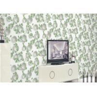 Wholesale Green Plants And Round Pattern 3D Embossed Wallpaper Surface Treatment from china suppliers