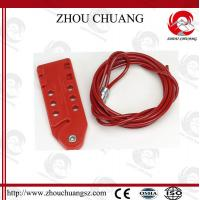 Wholesale Pc Body Red Adjustable Stainless Steel Cable Lockout with 1.8m cable length from china suppliers