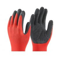 Wholesale 13 gauge nylon coated black latex gloves on palm safety glvoes Crinkle surface from china suppliers