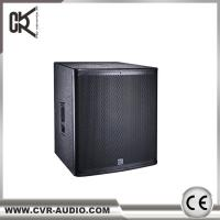 "Wholesale 1000W powered 18 "" subwoofer speaker active plywood sound equipment from china suppliers"