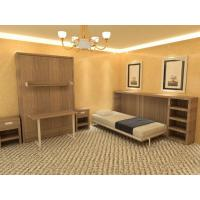 Quality Multifunctional Double Wall Bed with Talbe and Bookshelf , E1 Grade MDF Walnut Color for sale