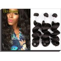 "Wholesale Black Remy Peruvian Virgin Human Hair Extensions 18"" 22"" Loose Wavy Natural Wave from china suppliers"