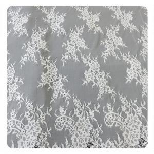 Wholesale Beautiful white Nylon Eyelash Elastic Lace Trim / Decorative Lace Trim from china suppliers
