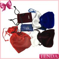 Wholesale Wholesale Leather Velvet Satin Flocking Suede Organza Linen Fabric Nylon Non-voven Drawstring Jewellery Jewelry Pouch from china suppliers