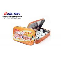 Wholesale H4U 25g Orange Flavor Sugar Free Fresheners Mints in Hinged Tin from china suppliers