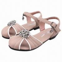 Wholesale Children's Queen Sandals with Diamond Accessories, Various Colors Available from china suppliers