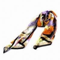 Wholesale Ladies Fashionable 100% Silk Long Scarf, Available in Various Colors and Styles from china suppliers