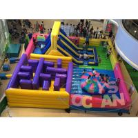 Wholesale 4 In 1 Multiply Inflatable Playground With Slide Maze Obstacle Game For Game from china suppliers