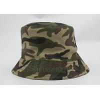 Wholesale Reversible 100 % Cotton Camo Bucket Hats Fishing Printed Customizable from china suppliers