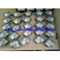 Quality ASTM A105 Galvanized Forged Steel Pipe Fittings 90 Degree 0.75 Inch Elbow for sale