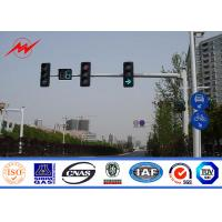 Wholesale 6.5m Height High Mast Poles / Road Lighting Pole For LED Traffic Signs , ISO9001 Standard from china suppliers