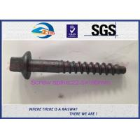 Wholesale 8.8 Grade 45# Railway coach Screws Spike with Bituminous painted from china suppliers